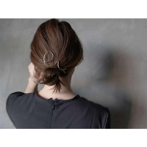 アピカル リンプ ヘアピン APICAL limp hairpin シンプルながらも自然な曲線が特徴のヘアピン|a-depeche|05