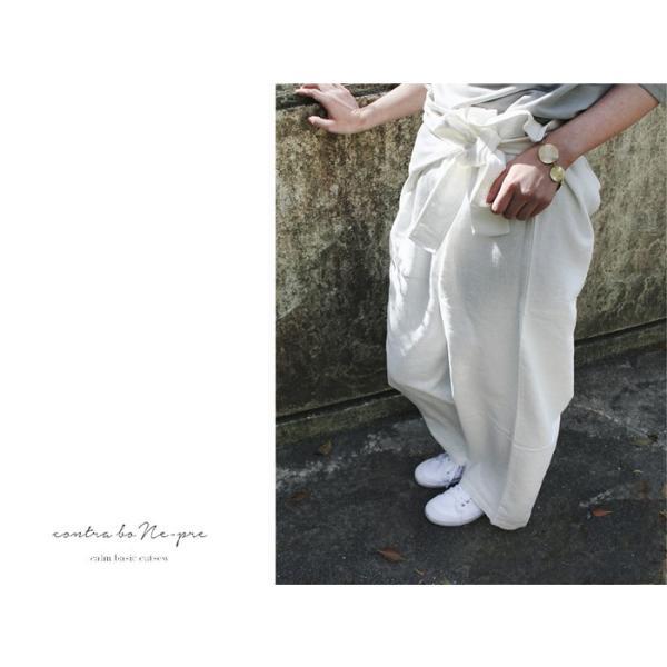 リネン タイ パンツ カジュアルにもモードにも合わせやすく着心地も良いボトムス|a-depeche|02