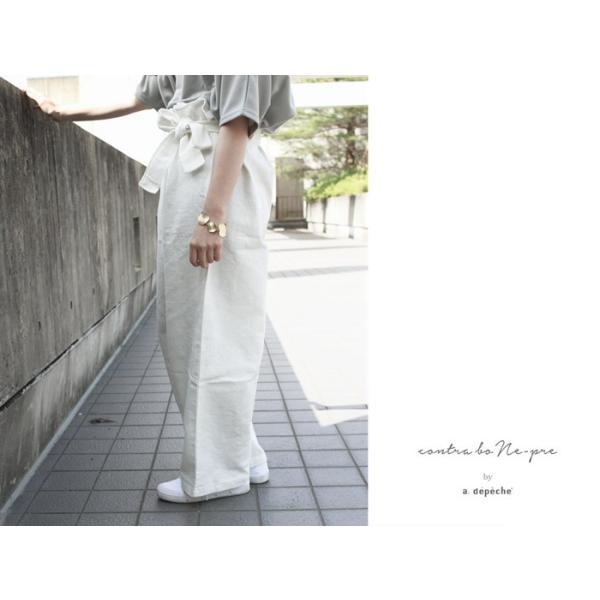 リネン タイ パンツ カジュアルにもモードにも合わせやすく着心地も良いボトムス|a-depeche|04