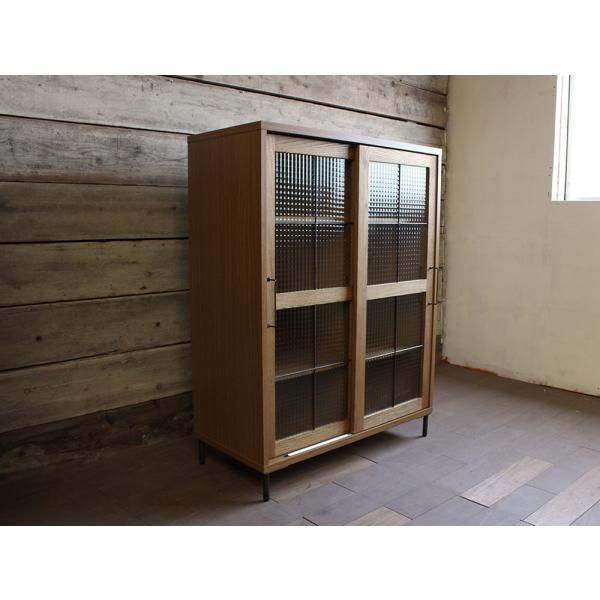 カデル スライドガラスキャビネットロー cadeal slide glass cabinet low|a-depeche|02