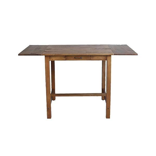 ダイニングテーブル  『コンテ・ライム バタフライテーブル』2人 3人 4人 伸長式 両バタフライ ブラウン おしゃれ 75-125cm ビンテージ感 レトロ アデペシュ a-depeche