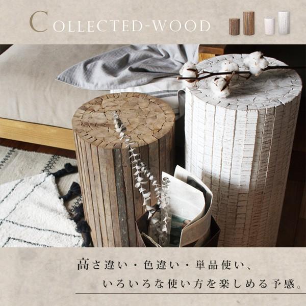 コレクトウッド ラウンドスツール 木製の椅子 花台として、スツールとして、ディスプレイ用として。『送料無料』|a-depeche|02