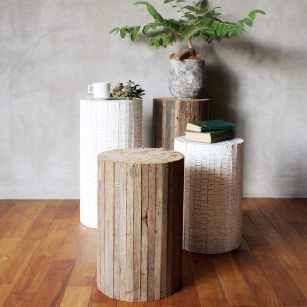 コレクトウッド ラウンドスツール 木製の椅子 花台として、スツールとして、ディスプレイ用として。『送料無料』|a-depeche|04