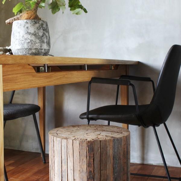 コレクトウッド ラウンドスツール 木製の椅子 花台として、スツールとして、ディスプレイ用として。『送料無料』|a-depeche|05