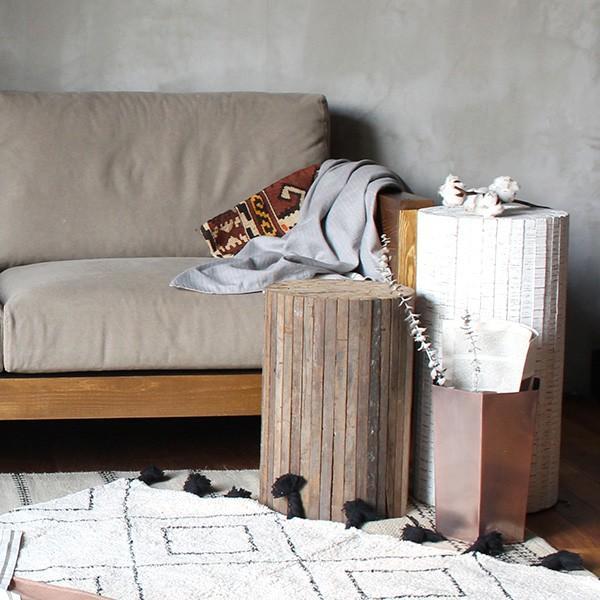 コレクトウッド ラウンドスツール 木製の椅子 花台として、スツールとして、ディスプレイ用として。『送料無料』|a-depeche|06