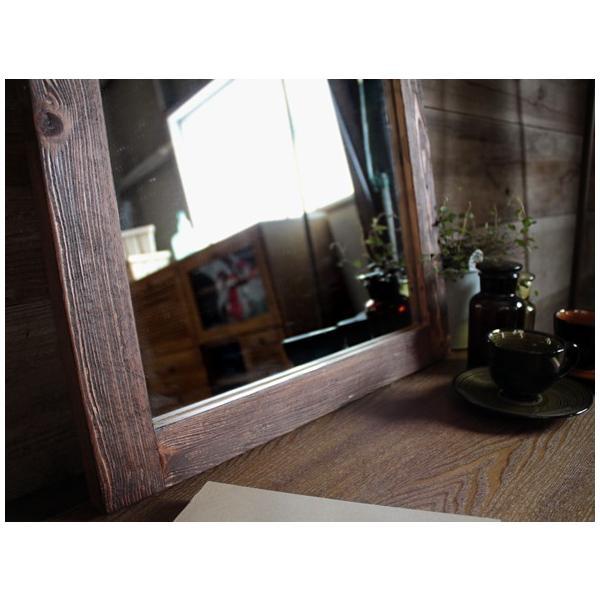 デジートミラー (S)パイン無垢材を使用した柔らかな鏡 テーブルやデスクに立掛けて|a-depeche