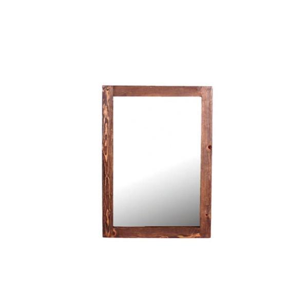 デジートミラー (S)パイン無垢材を使用した柔らかな鏡 テーブルやデスクに立掛けて|a-depeche|02