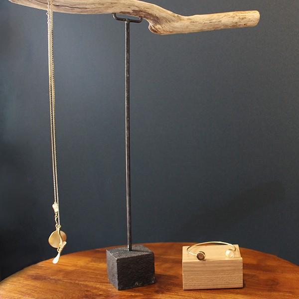 ウッド リング スタンド Sサイズ 『アクセサリー 収納 スタンド 木製 ディスプレイ 店舗 什器 ジュエリー 指輪 ピアス イアリング トレー 』|a-depeche|12
