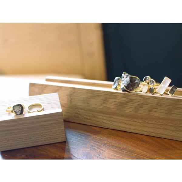 ウッド リング スタンド Sサイズ 『アクセサリー 収納 スタンド 木製 ディスプレイ 店舗 什器 ジュエリー 指輪 ピアス イアリング トレー 』|a-depeche|05