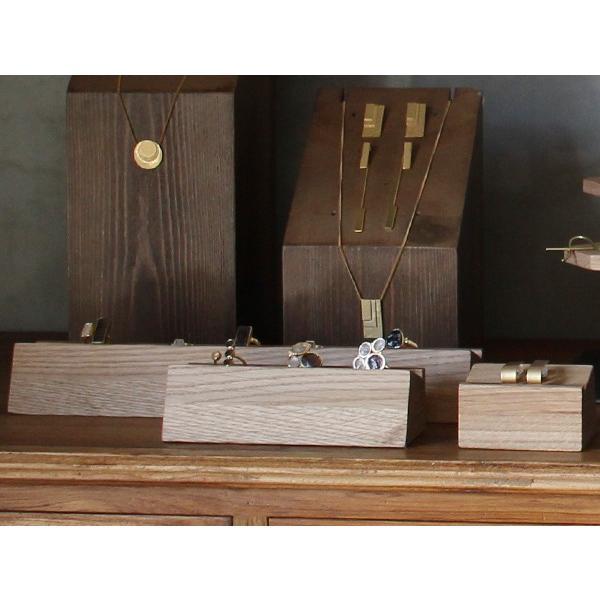 ウッド リング スタンド Sサイズ 『アクセサリー 収納 スタンド 木製 ディスプレイ 店舗 什器 ジュエリー 指輪 ピアス イアリング トレー 』|a-depeche|07