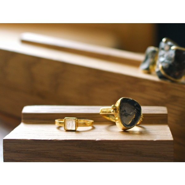 ウッド リング スタンド Sサイズ 『アクセサリー 収納 スタンド 木製 ディスプレイ 店舗 什器 ジュエリー 指輪 ピアス イアリング トレー 』|a-depeche|08