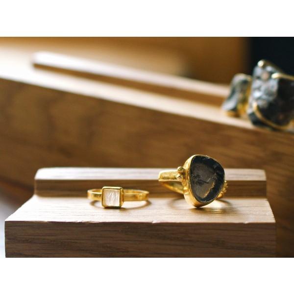 ウッド リング スタンド Mサイズ 『アクセサリー 収納 スタンド 木製 ディスプレイ 店舗 什器 ジュエリー 指輪 ピアス イアリング トレー』|a-depeche|08