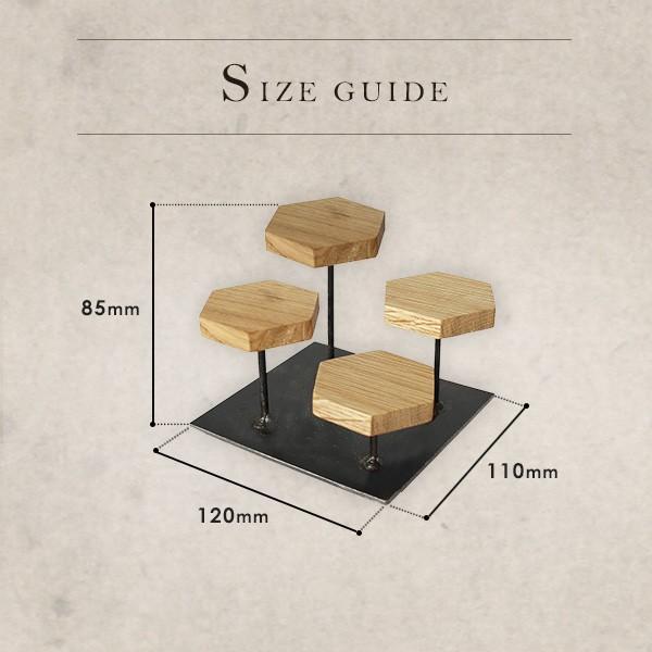 ウッドディスプレイステージ Sサイズ 『アクセサリー 収納 スタンド 木製 ディスプレイ 店舗 什器 ジュエリー 指輪 ピアス イアリング 天然木 無垢材』|a-depeche|02