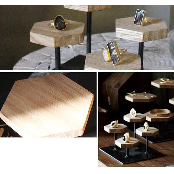 ウッドディスプレイステージ Sサイズ 『アクセサリー 収納 スタンド 木製 ディスプレイ 店舗 什器 ジュエリー 指輪 ピアス イアリング 天然木 無垢材』|a-depeche|05