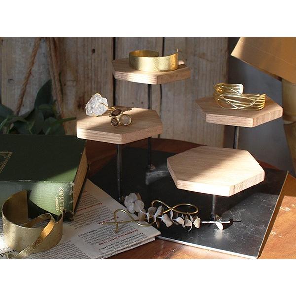 ウッドディスプレイステージ Sサイズ 『アクセサリー 収納 スタンド 木製 ディスプレイ 店舗 什器 ジュエリー 指輪 ピアス イアリング 天然木 無垢材』|a-depeche|06