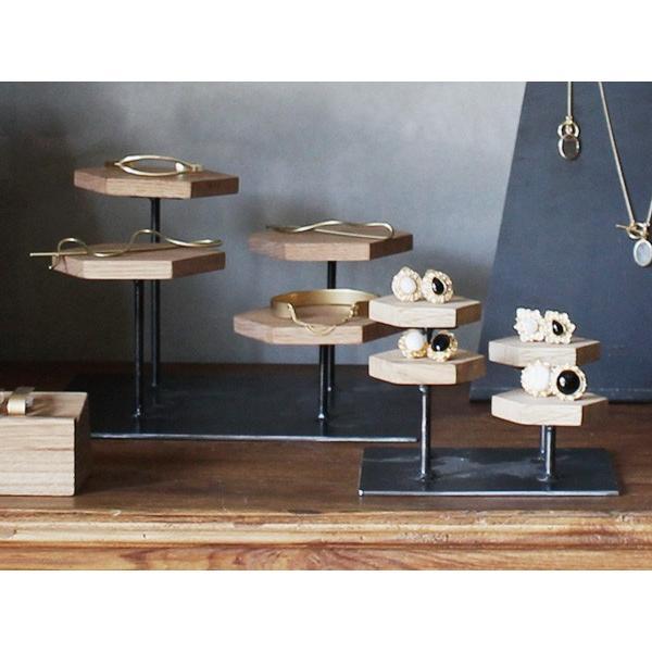 ウッドディスプレイステージ Sサイズ 『アクセサリー 収納 スタンド 木製 ディスプレイ 店舗 什器 ジュエリー 指輪 ピアス イアリング 天然木 無垢材』|a-depeche|10