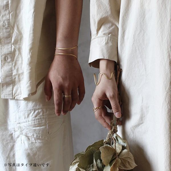 レディースバングル 『イエルト フープ ツイスト バングル  チェーン』 ブレスレット メンズ ゴールド 日本製 腕輪 真鍮 ユニセックス 軽量 aw|a-depeche|05