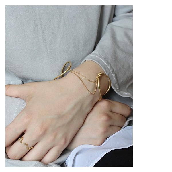 レディースバングル 『イエルト フープ ツイスト バングル  チェーン』 ブレスレット メンズ ゴールド 日本製 腕輪 真鍮 ユニセックス 軽量 aw|a-depeche|08