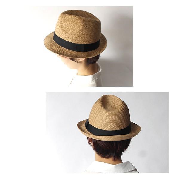 パナマ帽 レディース 『カジュアル ソフト ハット』 麦わら帽子 サマーハット 夏 ペーパー  おしゃれ 中折れ リボン付き|a-depeche|04
