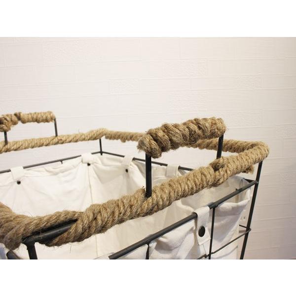 ヘンピング ランドリー カート ハイ hemping laundry cart high かさばる洗濯ものもたっぷりと入るバスケット|a-depeche|03