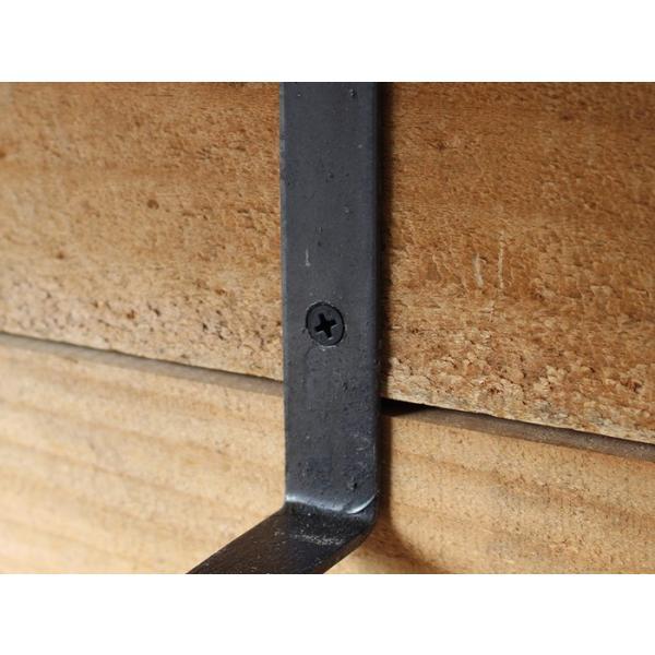 棚受け アイアン ウォールシェルフサポート (L) iron wall shelf support (L)|a-depeche|02