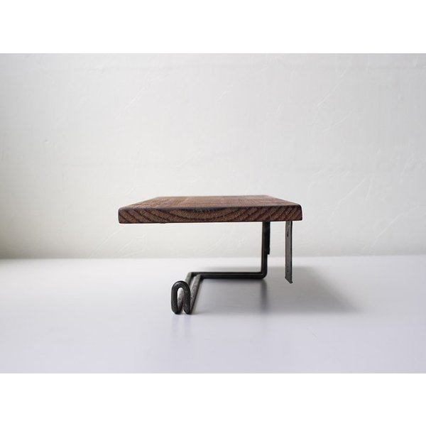 ウッドペーパーホルダー(S) wood paper holder(S) インダストリアルな雰囲気の飾り棚付トイレットペーパーホルダー|a-depeche|03