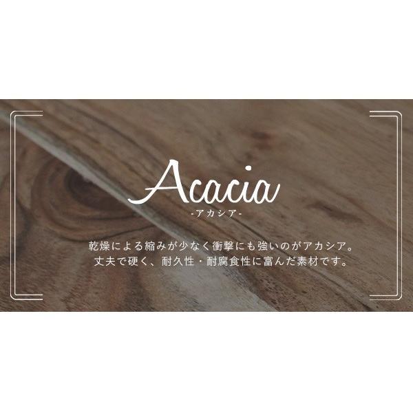 インノーチェ ラウンド カフェ テーブル 『送料無料 木製 80cm アカシア ダイニング スチール 丸 小さい 2人 円 メンズライク インダストリアル 北欧』|a-depeche|10