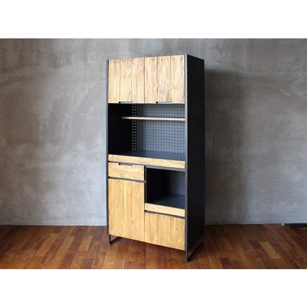 食器棚 モダージュキッチンボード 800 木の質感が美しいモダンなキッチンボード|a-depeche|02
