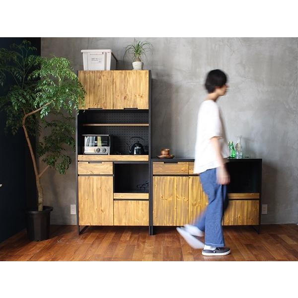 食器棚 モダージュキッチンボード 800 木の質感が美しいモダンなキッチンボード|a-depeche|05
