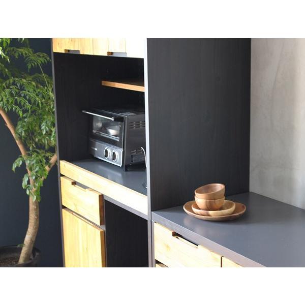 食器棚 モダージュキッチンボード 800 木の質感が美しいモダンなキッチンボード|a-depeche|06