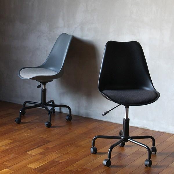オフィスチェア 北欧 『ノーエフピー キャスター チェア』 キャスター付き 椅子 おしゃれ 高さ調整 事務椅子 FRP 昇降|a-depeche|16