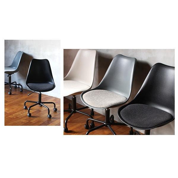 オフィスチェア 北欧 『ノーエフピー キャスター チェア』 キャスター付き 椅子 おしゃれ 高さ調整 事務椅子 FRP 昇降|a-depeche|04
