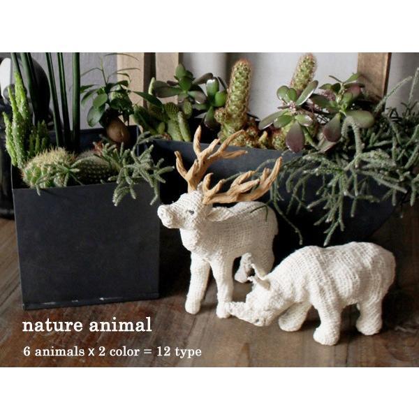 ナチュレ アニマル 自然素材を使った表情豊かな動物のオブジェ|a-depeche