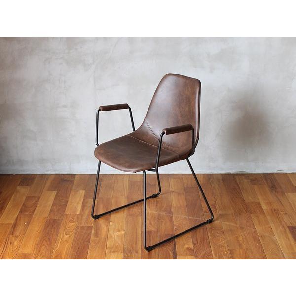 椅子 パニッシュ アーム チェア 肘置きが付き、ゆったりとくつろげる心地のよいチェア|a-depeche|04