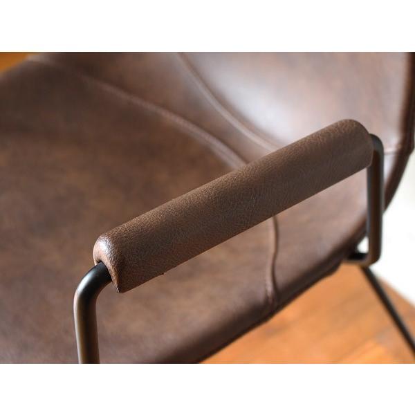 椅子 パニッシュ アーム チェア 肘置きが付き、ゆったりとくつろげる心地のよいチェア|a-depeche|05