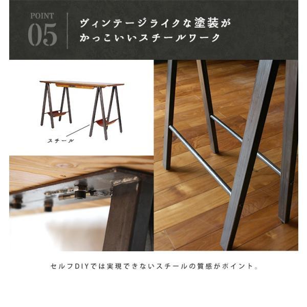 デスク テーブル 『プロック DIY クラフト アート ダイニングテーブル 1200』 机 パソコンデスク 木製 ダイニングテーブル 1人用 2人用|a-depeche|12