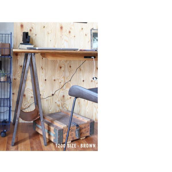 デスク テーブル 『プロック DIY クラフト アート ダイニングテーブル 1200』 机 パソコンデスク 木製 ダイニングテーブル 1人用 2人用|a-depeche|05
