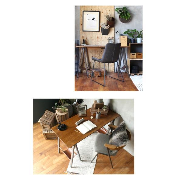 デスク テーブル 『プロック DIY クラフト アート ダイニングテーブル 1200』 机 パソコンデスク 木製 ダイニングテーブル 1人用 2人用|a-depeche|09