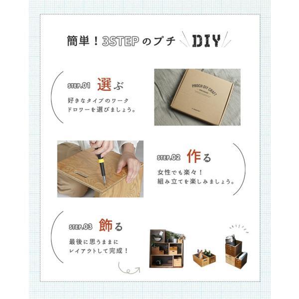 収納 引き出し  『プロック DIY クラフト ワーク ドロワー Sサイズ』箱 収納ボックス ケース おしゃれ 木製 DIY 組み立て 蓋なし  木箱|a-depeche|08
