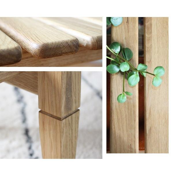 ソロ スラット コーヒー テーブル 『センターテーブル 無垢材 木製 ローテーブル 130 ナチュラル モダン スクエア 高さ39』|a-depeche|16