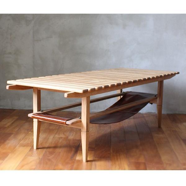 ソロ スラット コーヒー テーブル 『センターテーブル 無垢材 木製 ローテーブル 130 ナチュラル モダン スクエア 高さ39』|a-depeche|17