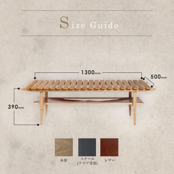 ソロ スラット コーヒー テーブル 『センターテーブル 無垢材 木製 ローテーブル 130 ナチュラル モダン スクエア 高さ39』|a-depeche|19