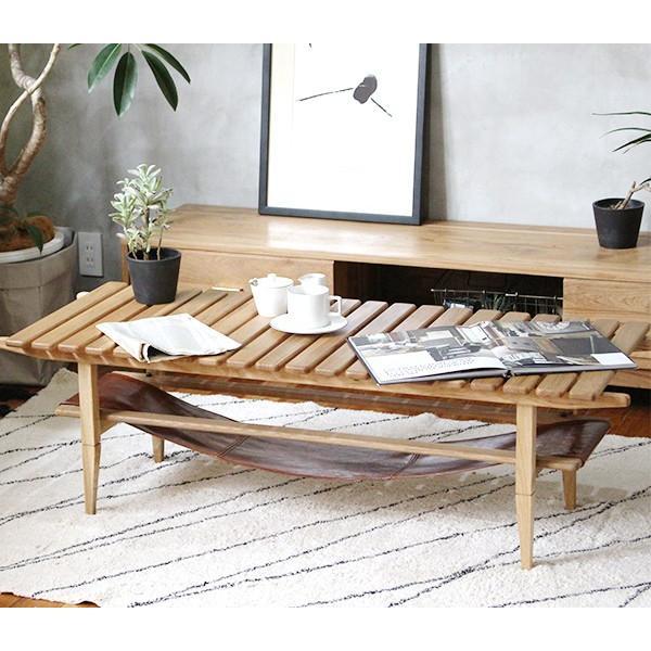 ソロ スラット コーヒー テーブル 『センターテーブル 無垢材 木製 ローテーブル 130 ナチュラル モダン スクエア 高さ39』|a-depeche|09