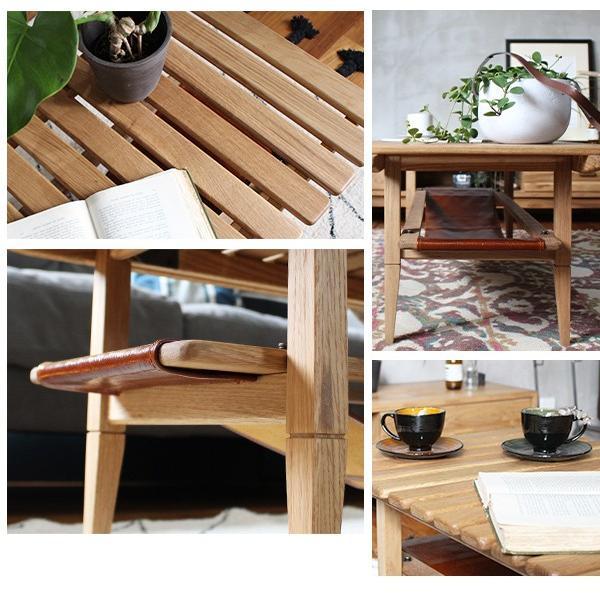 ソロ スラット コーヒー テーブル 『センターテーブル 無垢材 木製 ローテーブル 130 ナチュラル モダン スクエア 高さ39』|a-depeche|10