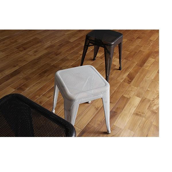 スツール 北欧 『スタッキング メッシュ スツール』 椅子 収納 スチール 四角 おしゃれ カフェ バー 46cm チェア 積み重ね a-depeche 11