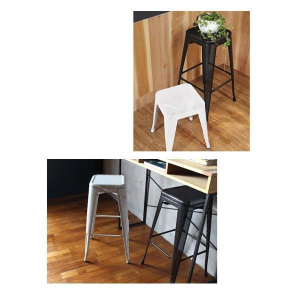 スツール 北欧 『スタッキング メッシュ スツール』 椅子 収納 スチール 四角 おしゃれ カフェ バー 46cm チェア 積み重ね a-depeche 03