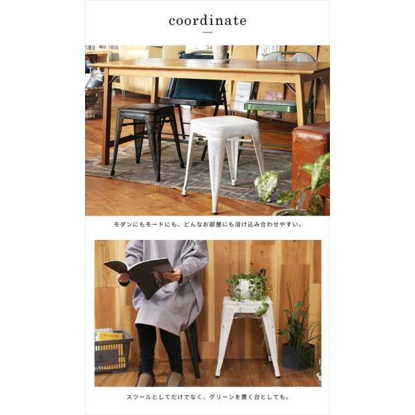 スツール 北欧 『スタッキング メッシュ スツール』 椅子 収納 スチール 四角 おしゃれ カフェ バー 46cm チェア 積み重ね a-depeche 08