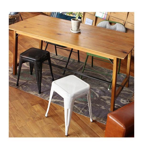 スツール 北欧 『スタッキング メッシュ スツール』 椅子 収納 スチール 四角 おしゃれ カフェ バー 46cm チェア 積み重ね a-depeche 10