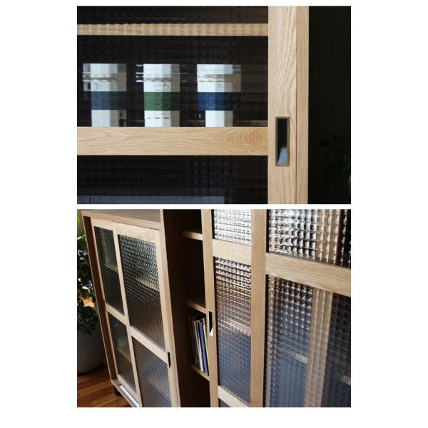 [セール]キャビネット ガラス棚 『スプレム スライドガラスキャビネット ハイ』 木製 食器棚 おしゃれ ナチュラル 本棚 収納家具 日本製 『予約受付中』 a-depeche 10
