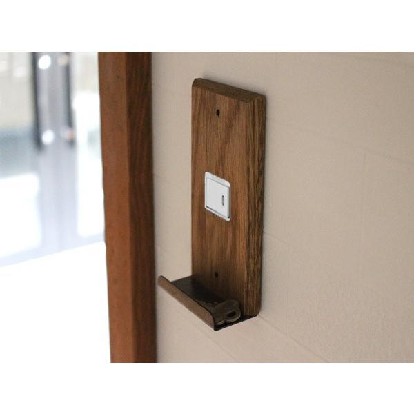 ウッド アイアントレイ  スイッチプレート 1口 wood iron tray switch plate 1口 スイッチの周りもおしゃれにするスイッチカバー a-depeche